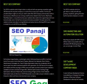 Web Design with Black Theme Design